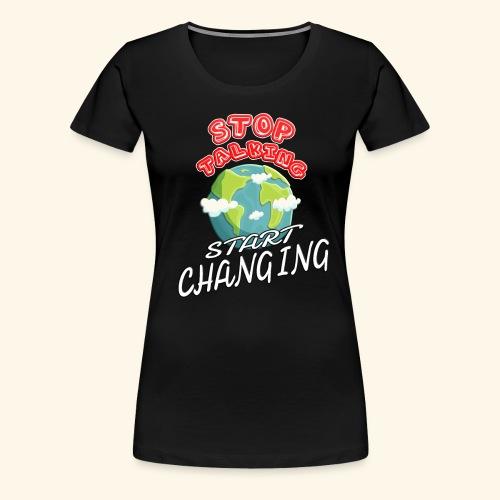 Klimaschutz Klimaerwärmung friday for future Demo - Frauen Premium T-Shirt