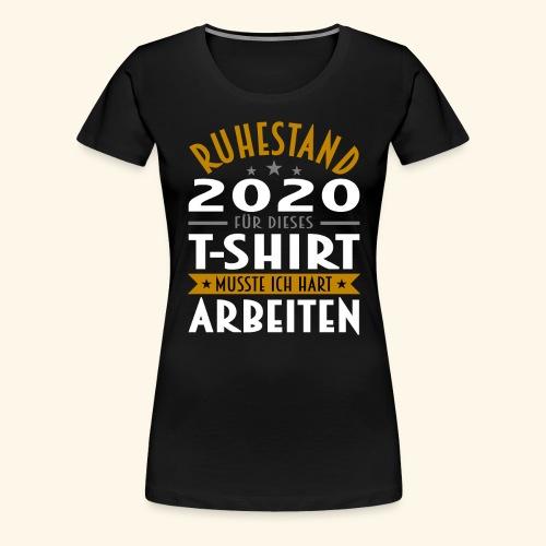 Ruhestand 2020 - Frauen Premium T-Shirt