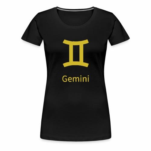 Das goldene Symbol des Zwillings - Frauen Premium T-Shirt