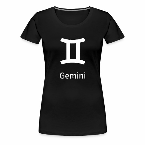 Mein Sternzeichen ist der Zwilling - Frauen Premium T-Shirt