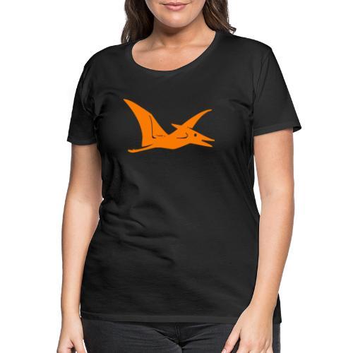 Dieser Dino ist so groß wie ein Flugzeug - Frauen Premium T-Shirt
