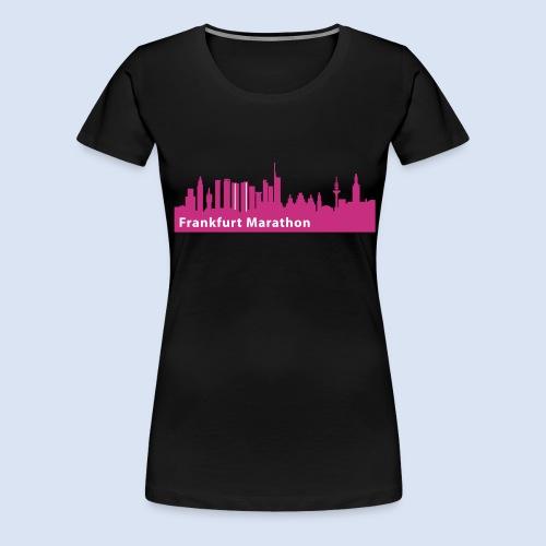 Frankfurt Marathon Skyline - Frauen Premium T-Shirt