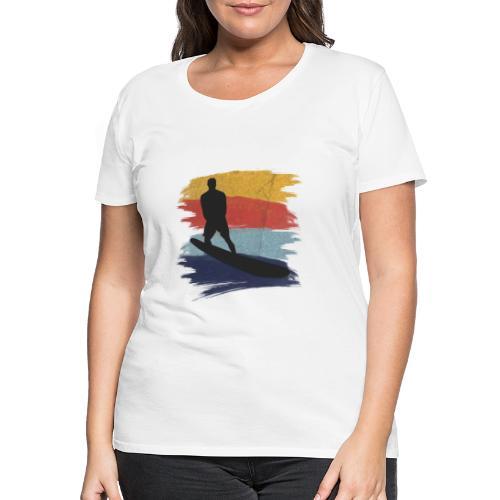 Wellenreiten Retro-Stil, Vintage - Frauen Premium T-Shirt