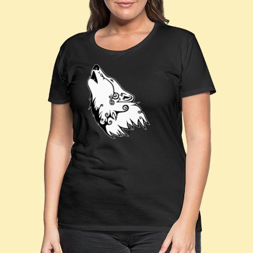 Le Loup de Neved (version contour blanc) - T-shirt Premium Femme