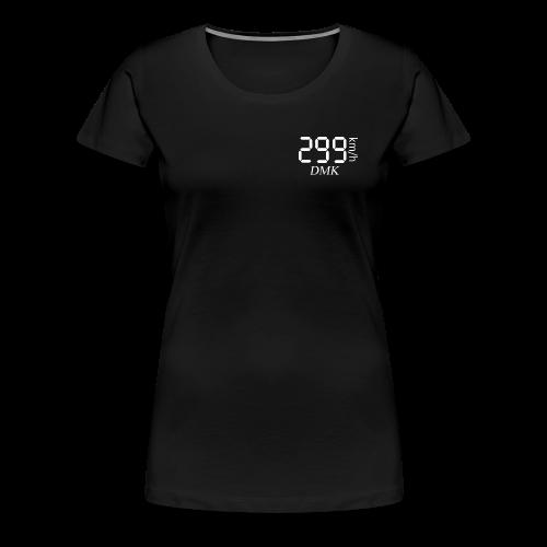 299KM/H DMK BLANC - T-shirt Premium Femme