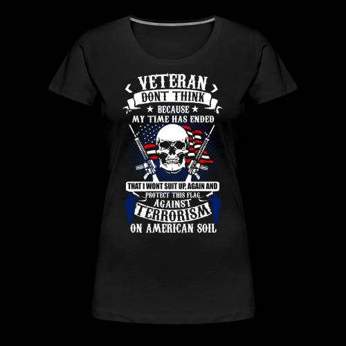 Veteran soldier terror terrorism skull army usa us - Frauen Premium T-Shirt