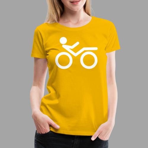 Recumbent bike white 2 - Naisten premium t-paita