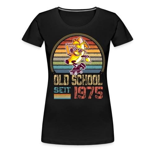 Retro Geburtstagsshirt Geburtstag Jahrgang 1975 - Frauen Premium T-Shirt