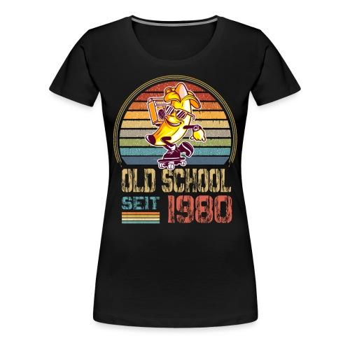 Jahrgang 1980 Skateboard Geburtstag 1980 Geschenk - Frauen Premium T-Shirt