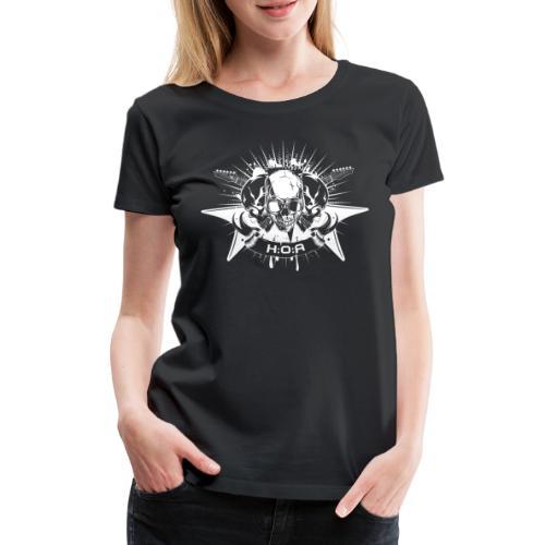 H:O:A Logo + Schriftzug White - Frauen Premium T-Shirt