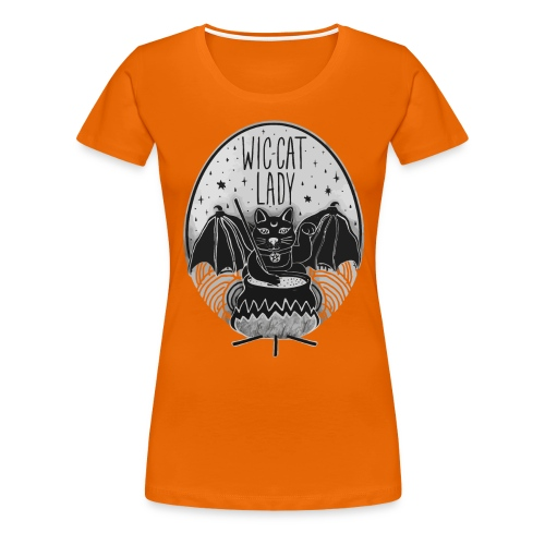 Wic-cat lady halloween shirt - Women's Premium T-Shirt