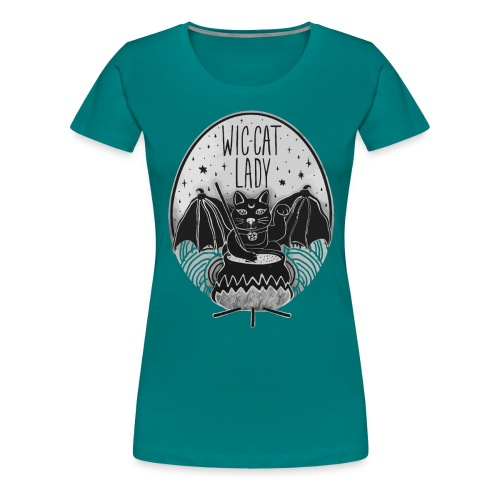 Wic-cat lady halloween shirt - Women's Premium T-Shirt