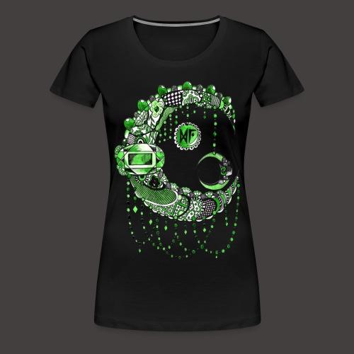 Lune dentelle Verte - T-shirt Premium Femme