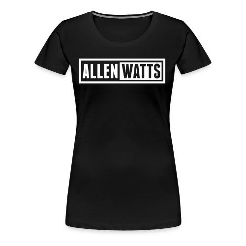 ALLEN WATTS LOGO TRANS WHITE - Vrouwen Premium T-shirt
