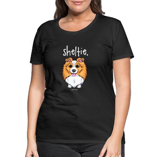 Sheltie Dog Cute 5 - Naisten premium t-paita