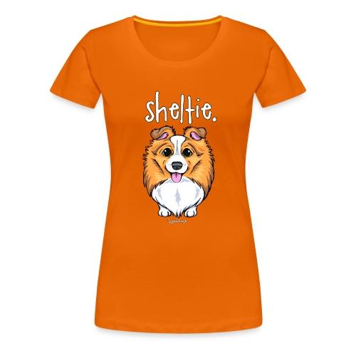 Sheltie Dog Cute 5 - Women's Premium T-Shirt