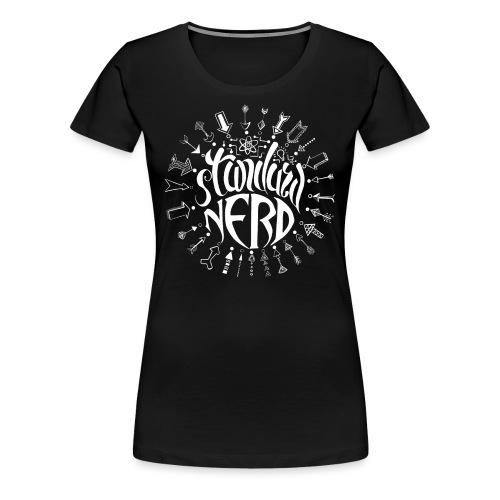 standardnerd white - Women's Premium T-Shirt