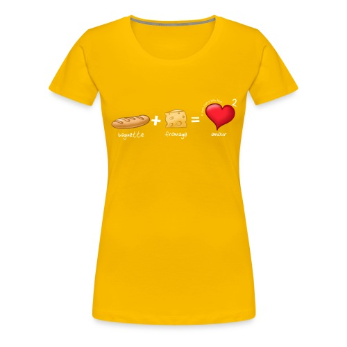 bread cheese boopee white - Women's Premium T-Shirt