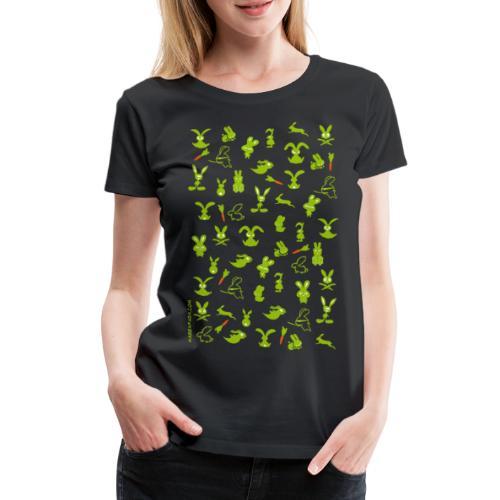 HASE KANINCHEN BUNNY BUNNIES HÄSCHEN MÖHRE KAROTTE - Frauen Premium T-Shirt