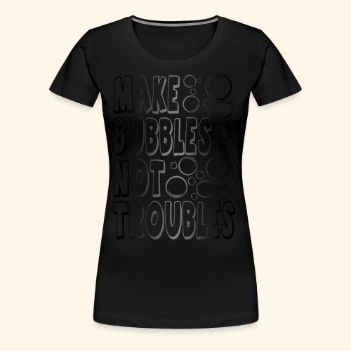 Bubbles002 - Vrouwen Premium T-shirt