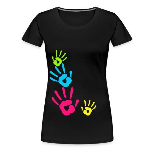 MANOS PINTADAS NIÑOS - Camiseta premium mujer