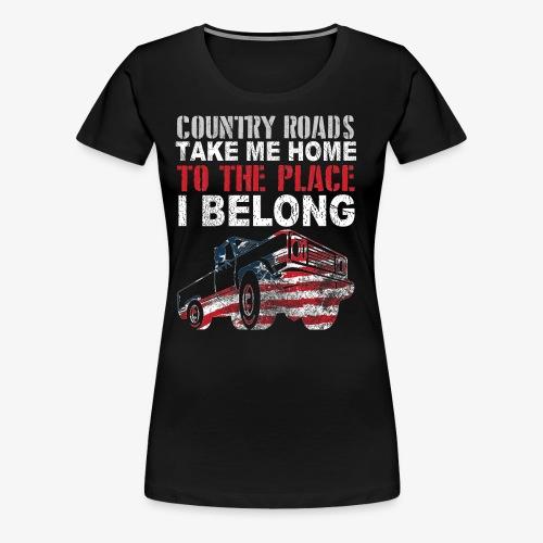 Diseño para camioneros y conductores de camionetas - Camiseta premium mujer