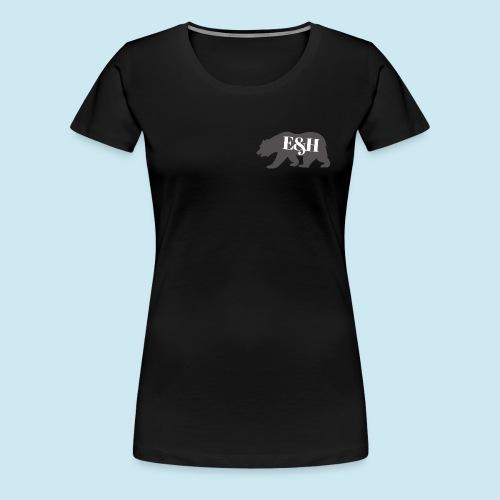 Wild bear design ~ E&H Woodland Collection - Women's Premium T-Shirt