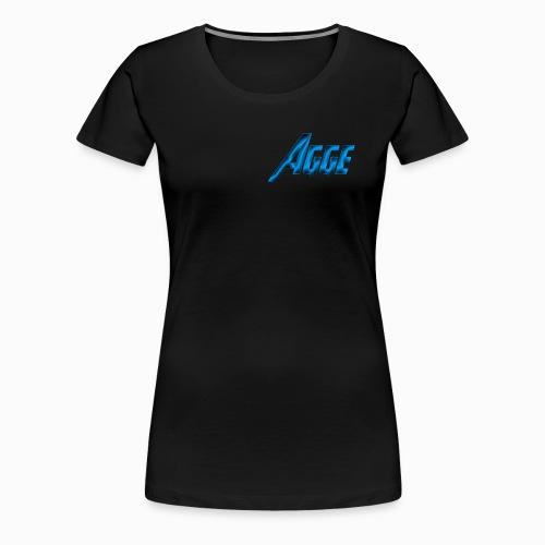 Agge - Blå Logga   Fram - Premium-T-shirt dam
