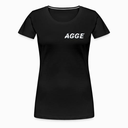 Agge - Vit Logga   Fram - Premium-T-shirt dam