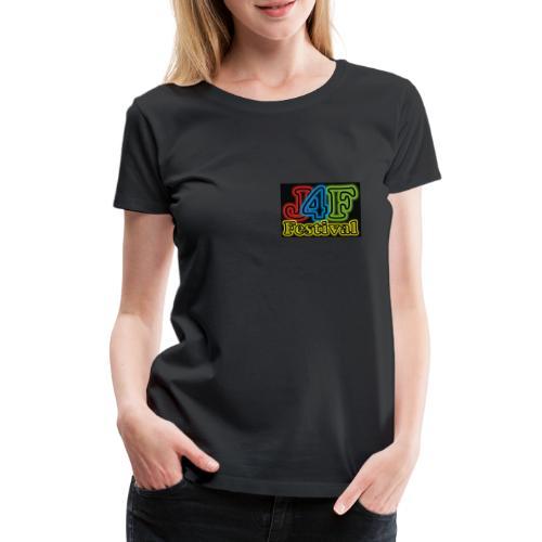 Just4Fun Festival Logo Schwarz - Frauen Premium T-Shirt
