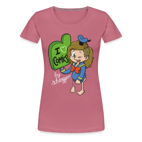 iheartcomics weiss - Frauen Premium T-Shirt