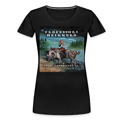 possu ja sorvari kansi - Naisten premium t-paita