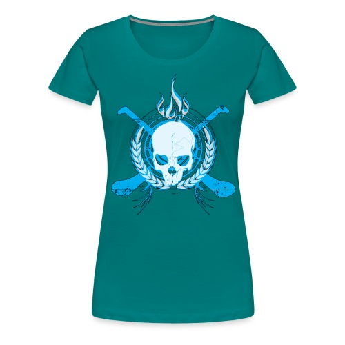 skullelectricblack - Women's Premium T-Shirt