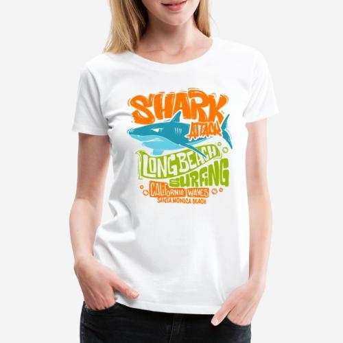Hai-Surf-Surfen california - Frauen Premium T-Shirt