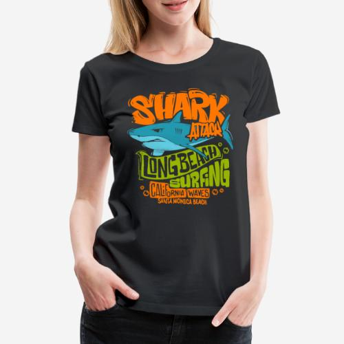 shark surf surfing california - Frauen Premium T-Shirt