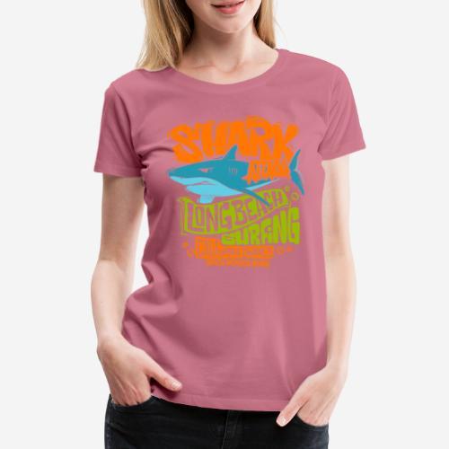 shark surf surfing california - Frauen Premium T-Shirt