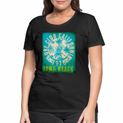 Long Beach Surf Club California 1976 Gift Idea - Women's Premium T-Shirt