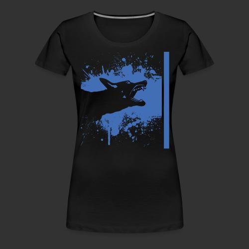 K9 Thin Blue Line - Naisten premium t-paita