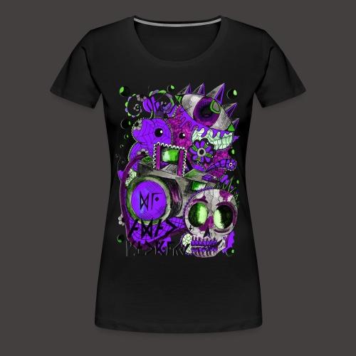 AGAC Picture Vert et Violet - T-shirt Premium Femme