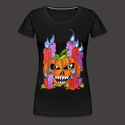 CANDLE PUMPKIN - T-shirt Premium Femme