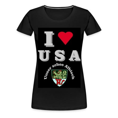 i love usa fuer schwarzes t shirt - Frauen Premium T-Shirt