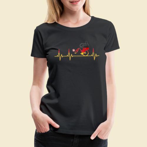 Radball | Cycleball Heart Monitor Germany - Frauen Premium T-Shirt