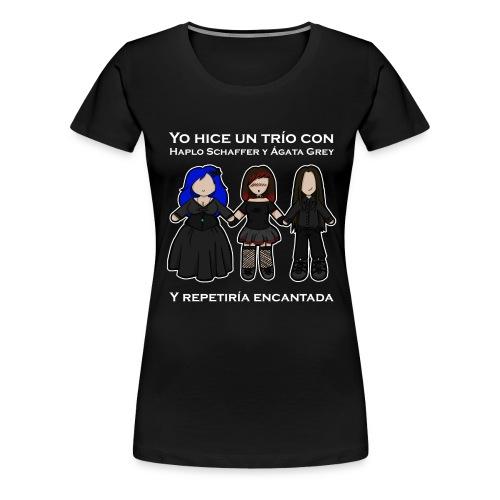 Trío con Haplo y Ágata - Camiseta premium mujer