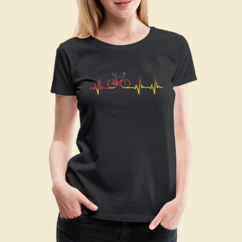 Kunstrad | Artistic Cycling Heart Monitor Germany - Frauen Premium T-Shirt
