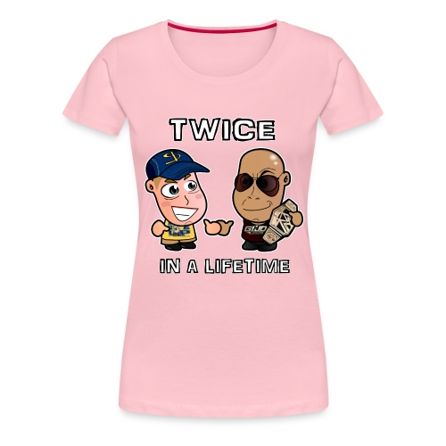 Chibi Cena and Rock - Twice in a Lifetime - Women's Premium T-Shirt