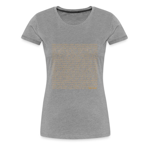 STAY HOME. - Frauen Premium T-Shirt