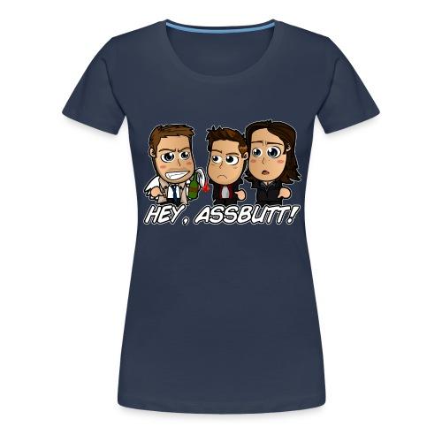 Chibi Super natural - Hey Assbutt - Women's Premium T-Shirt