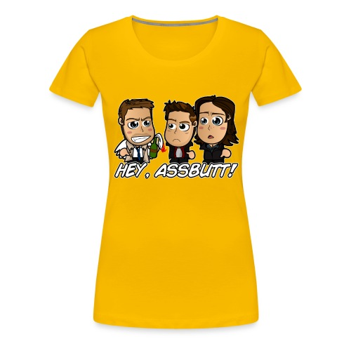 Chibi Super natural - Hey Assbutt - Women's Premium T-Shirt