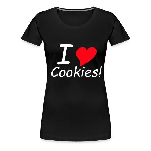 ilovecokies - Frauen Premium T-Shirt
