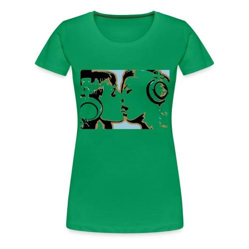 kissing - Women's Premium T-Shirt